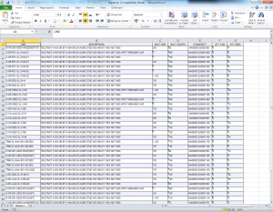 PDMS Macro Piping Bolts Report Excel