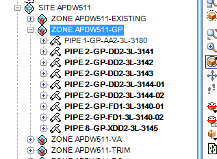 PDMS Macro Sort Pipe Hierarchy by Name After