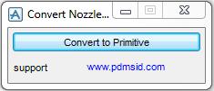 PDMS Macro Convert Nozzle to Primitive
