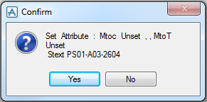 PDMS Macro Isometric Material List Control