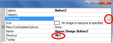 Make a New Keyboard Shortcuts in AVEVA PDMS Button Attribute