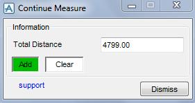 PDMS Macro Continuous Measurement Tools Menu