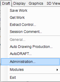 pdms-draft-administration-menu