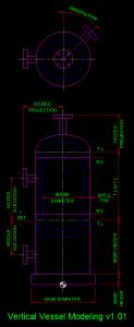 PDMS Macro Vertical Vessel
