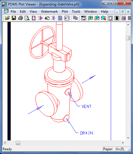 Convert Dxf to Plt file with Pdms plot command PLT